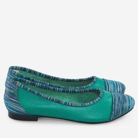 Balerini smarald din piele naturala Emerald
