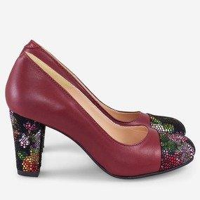 Pantofi din piele naturala Flower Crush