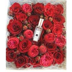 Valentine's Box Roses and Jo Malone Perfume