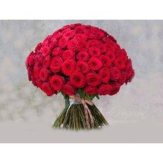 Bouquet con 101 Rose Rosse