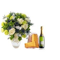 Bouquet Green Christmas, Pandoro e Spumante