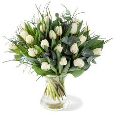 Bouquet White Tulips