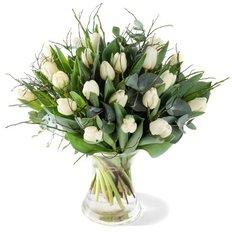 Bouquet White Tulips