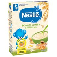 Cereale Nestle 8 Cereale cu Miere, 250g, 12 luni+