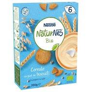 Cereale Nestle Naturnes Bio cu gust de biscuiti, 200g, 6 luni+