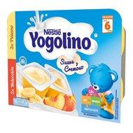 Gustare cu lapte Nestle Yogolino Creamy Duo Banane si Piersici 6x60g, 6 luni+