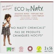 Servetele umede fara parfum 3*56buc, ECO by Naty