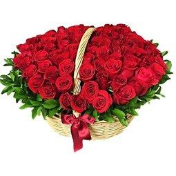 Cosul cu trandafiri