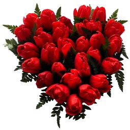 Inima cu lalele rosii