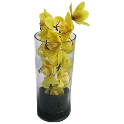 Cymbidium galben in vaza