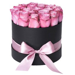 Trandafiri mov in cutie