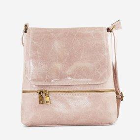 Geanta sport din piele naturala roz pudra Carmel