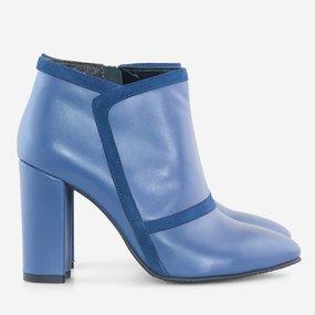 Ghete dama din piele naturala albastra Madeline