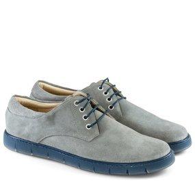 Pantofi barbatesti din piele intoarsa gri