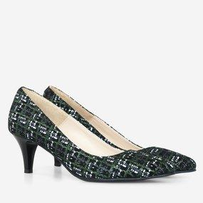 Pantofi dama cu toc comod din piele naturala Fabia
