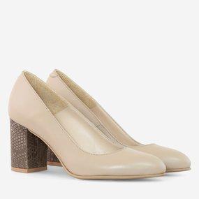 Pantofi dama din piele naturala camel Melania