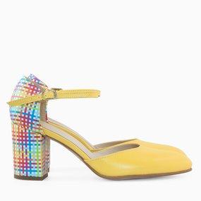 Pantofi dama din piele naturala galbena Teresa