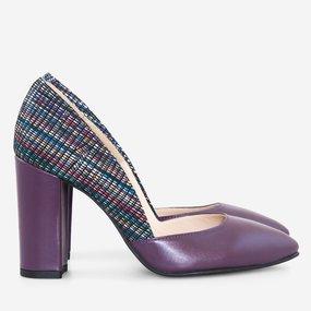 Pantofi dama din piele naturala mov Pepper