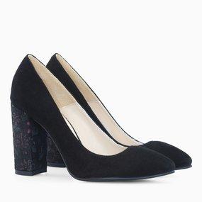 Pantofi dama din piele naturala neagra Juanita
