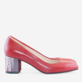 Pantofi dama din piele naturala rosie Grace