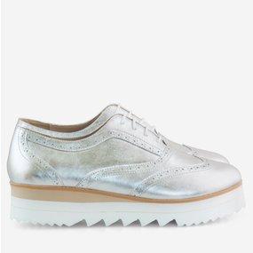 Pantofi dama oxford argintii Brighton