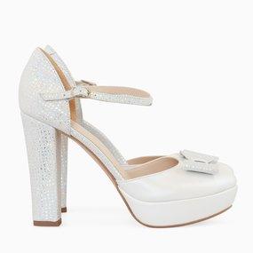Pantofi de mireasa cu toc si platforma Jewel