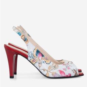 Pantofi decupati din piele naturala imprimata Felicity
