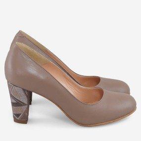 Pantofi office din piele cappuccino Bernadine