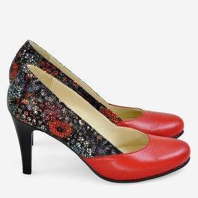 Pantofi rosii cu piele imprimata Fall in Love
