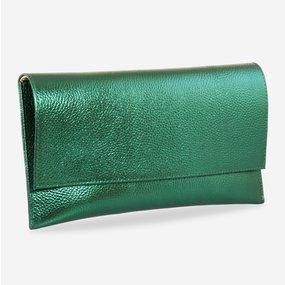 Plic de ocazie din piele naturala verde sidef Holiday