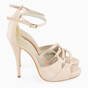 Sandale elegante nude roze Bella