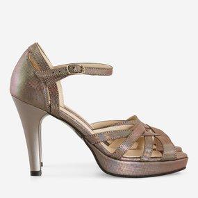 Sandale galbene din piele naturala bronz Sicily