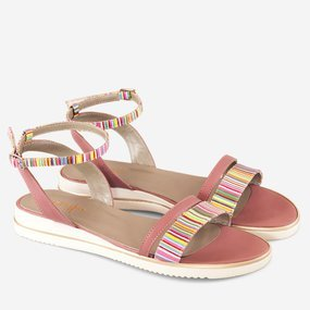Sandale joase Pink Stripes