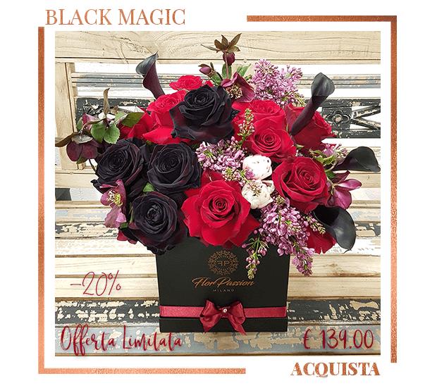 Black Magic Scatola Fiori San Valentino