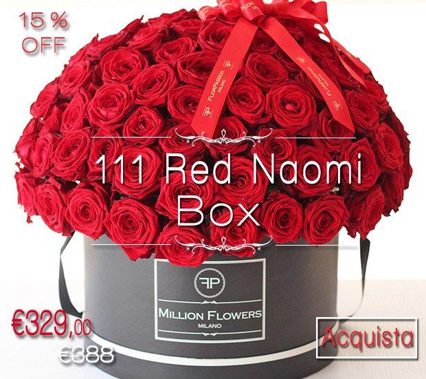 111 Red Naomi Million Flowers Box