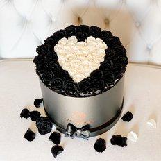 Black Love Forever Roses Box