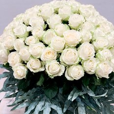 Bouquet 100 Rose Bianche