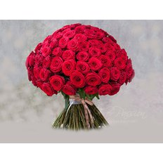 Bouquet con 101 Rose Rosse