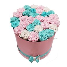 Preserved Rose Box Tiffany Pink | Forever Roses Milan | Flower Delivery