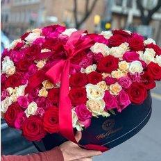 Cuore con 99 Rose