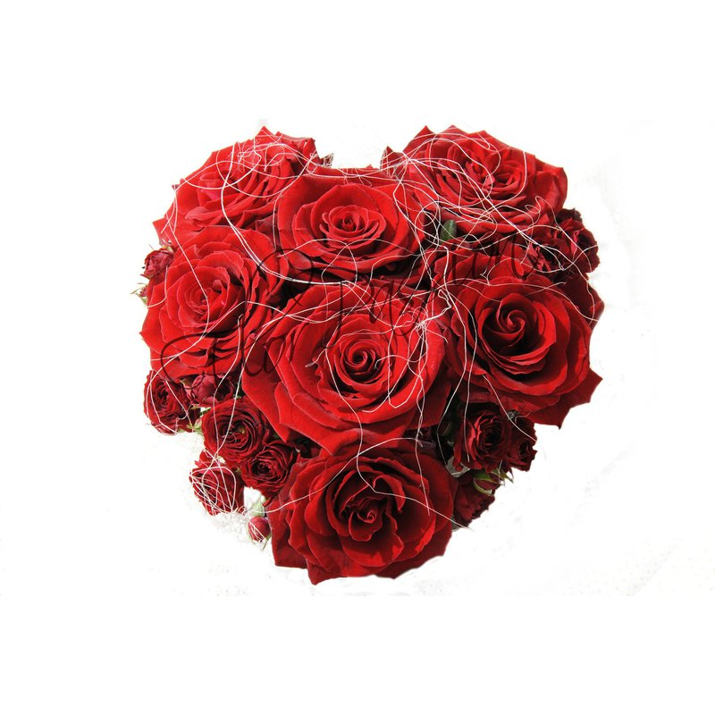 spesso Red Roses Heart | Valentine's Flowers | Delivery Red Roses Heart  SI51