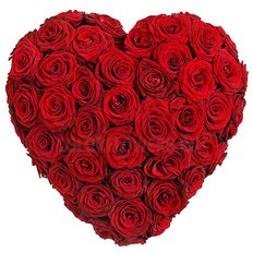 Huge Red Roses Heart | Sending Flowers to Milan