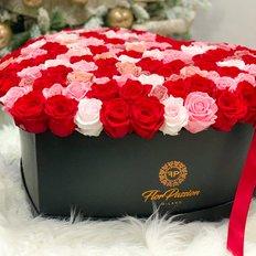 Eternal Love Cuore Rose Stabilizzate
