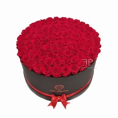 100 Preserved Red Roses Box | Million Roses | Luxury Flowers