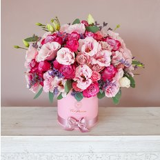 Pink Roses Box | Local Florist Milan | Same Day Flower Delivery