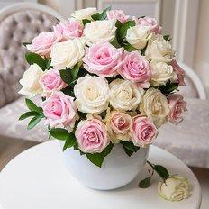 Bouquet Rose Bianche e Rosa | Ordina Fiori Online Milano