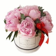 Pink Peony Box | Million Flowers Milan Florist