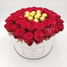 Red Roses & Ferrero Rocher Million Flowers Box