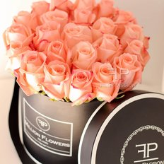 Salmon Roses Box Million Flowers