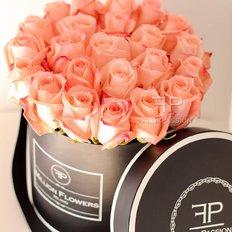 Scatola Rose Salmone Million Flowers